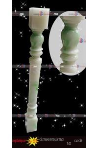 Cầu thang đá cẩm thạch ngọc bích trụ 01 - xanh ngọc bích