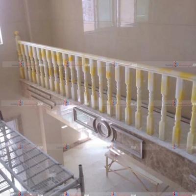 Cầu thang đá onyx demo 11