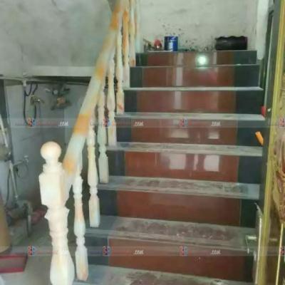 Cầu thang đá onyx nhân tạo demo 6