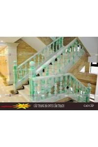 Cầu thang đá onyx nhân tạo demo 9