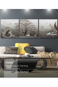 Tranh treo tường phù điêu thiên nhiên 3D