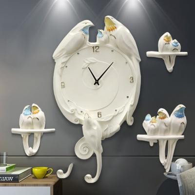 Tranh đồng hồ tổ chim 3d