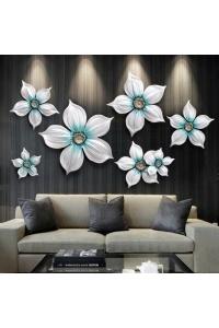 Họa tiết treo tường hoa 3D mẫu 04