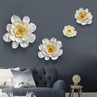 Họa tiết hoa 3D treo tường 4 bông