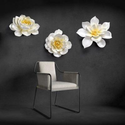 Họa tiết hoa 3D treo tường mẫu 3
