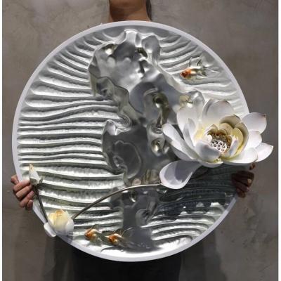 Họa tiết trang trí 3D hoa bạch liên