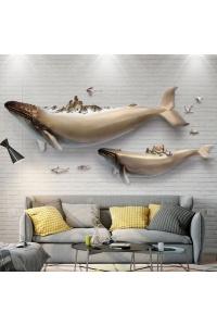 2 Con Cá voi đại dương 3D