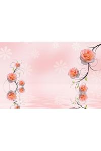 Tranh gạch 3D hoa H12