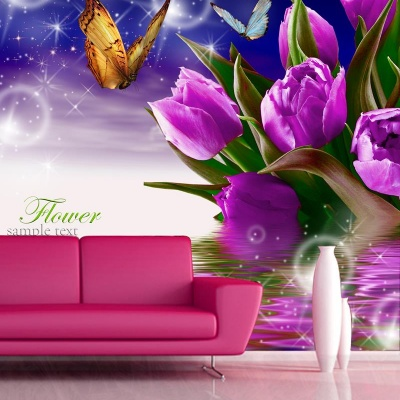 Tranh gạch 3D hoa H160