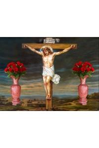 tranh gạch 3d chúa giê su đóng đinh cây thánh giá