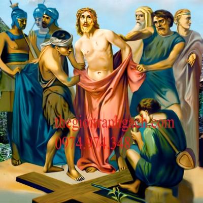 Tranh gạch 3D công giáo CG28
