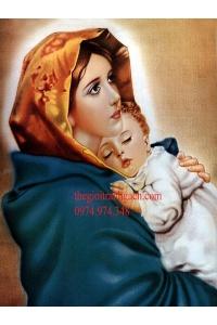 Tranh gạch 3D công giáo đức mẹ maria