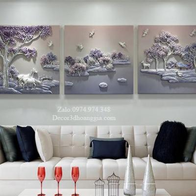 Tranh phù điêu treo tường 3D Thiên Nhiên