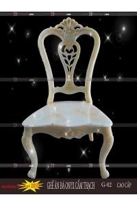 Bàn ghế ăn đá cẩm thạch onyx ngọc bích