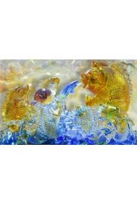 tranh gạch 3d cá chép một cc09