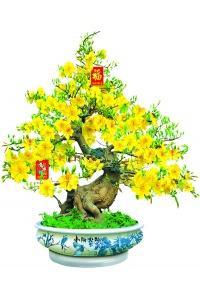 Tranh gạch 3D cây mai vàng 05