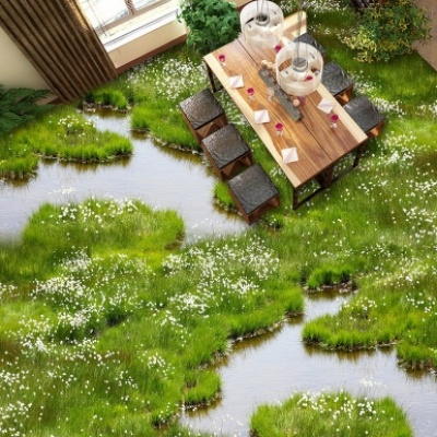 Sàn nhà 3d bãi cỏ