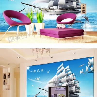 Tranh gạch 3D thuận buồm xuôi gió 26 - tranh gạch 3D phòng khách