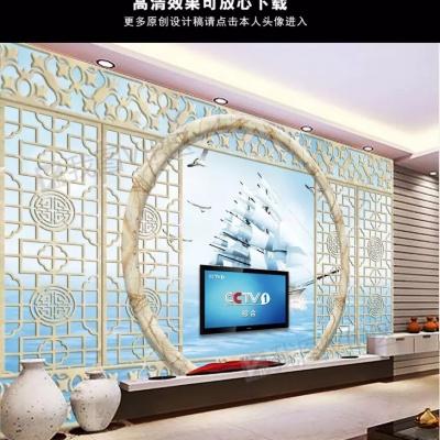 Tranh gạch 3D thuận buồm xuôi gió 30 - tranh gạch 3D phòng khách