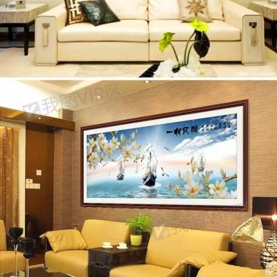 Tranh gạch 3D thuận buồm xuôi gió 31 - tranh gạch 3D phòng khách