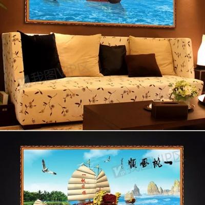 Tranh gạch 3D thuận buồm xuôi gió 33 - tranh gạch 3d phòng khách