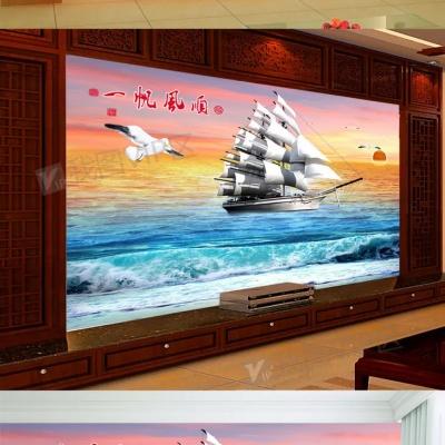 Tranh gạch 3D thuận buồm xuôi gió 37 - tranh gạch 3D phòng khách