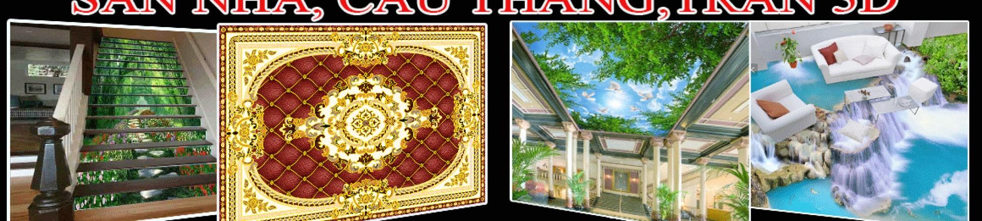 Sàn nhà, Cầu thang, Trần 3D
