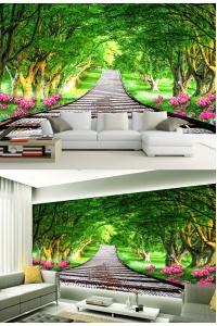 tranh gạch 3d phòng khách đẹp pk13