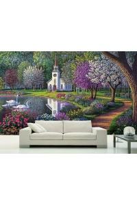 tranh gạch 3d phòng khách đẹp pk21
