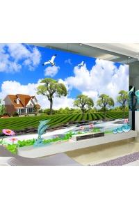 tranh gạch 3d phòng khách đẹp pk24