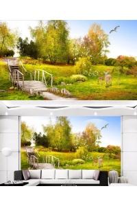 tranh gạch 3d phòng khách đẹp pk25