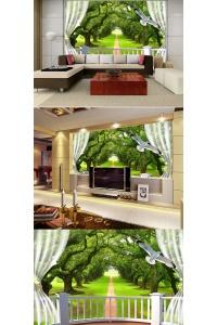 tranh gạch 3d phòng khách đẹp pk29