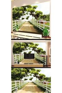 Tranh gạch 3D phòng khách đẹp pk31