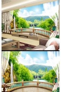 Tranh gạch 3D phòng khách đẹp pk32