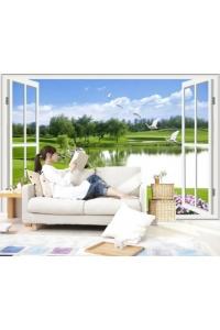 Tranh gạch 3D phòng khách đẹp pk40