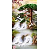 tranh gạch 3d thác nước đứng 177