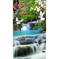 tranh gạch 3d thác nước đứng 179