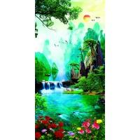 tranh gạch 3d thác nước đứng 198