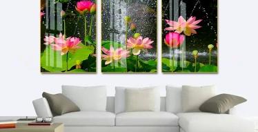 tranh 3d hoa sen