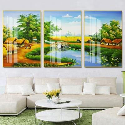 tranh treo tường đồng quê bộ 3 ĐQ106
