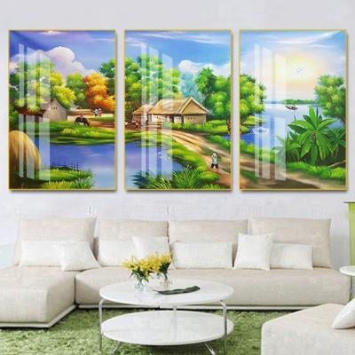 tranh treo tường đồng quê bộ 3 ĐQ95